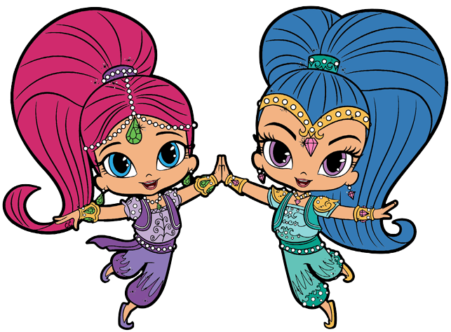 Shimmer and shine clipart. Cartoon clip art tala