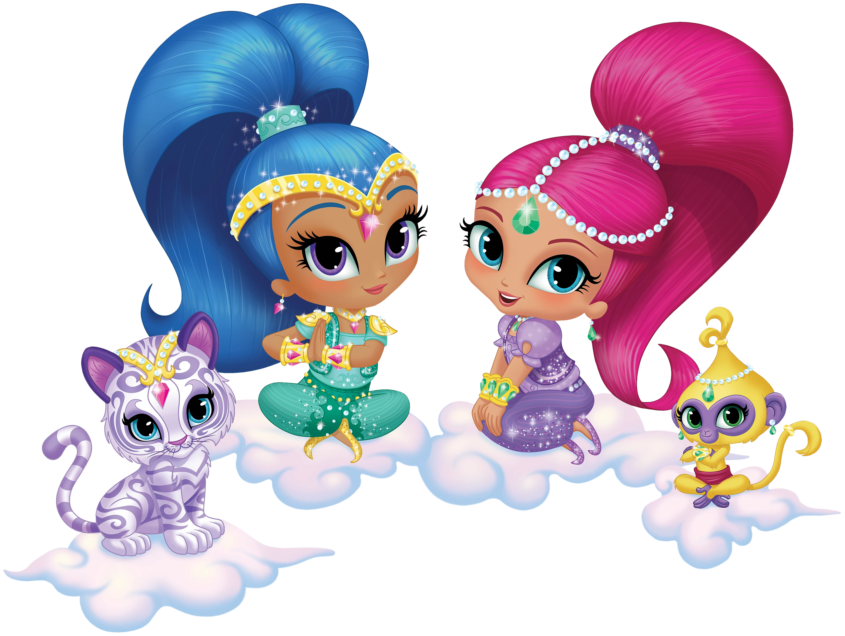 Shimmer and shine clipart. Transparent png cartoon image