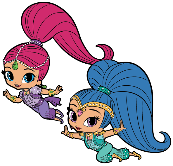 Shimmer and shine clipart. Cartoon clip art