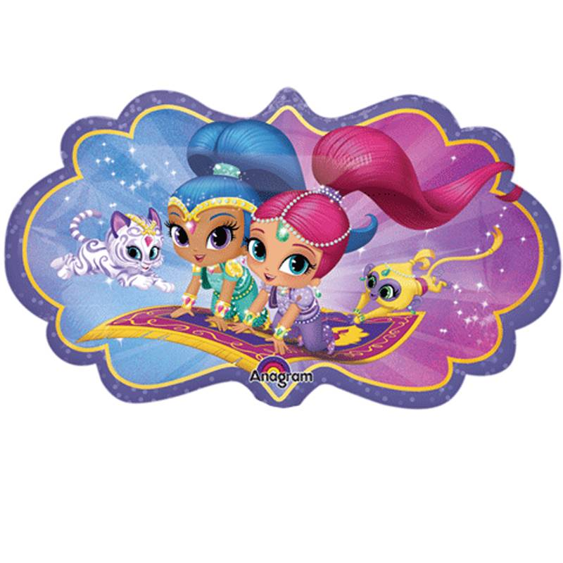 Shimmer and shine clipart blue. Balloons supershape balloon