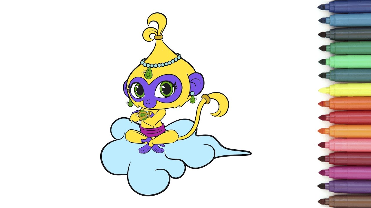 Shimmer and shine clipart tala. Coloring page for kids