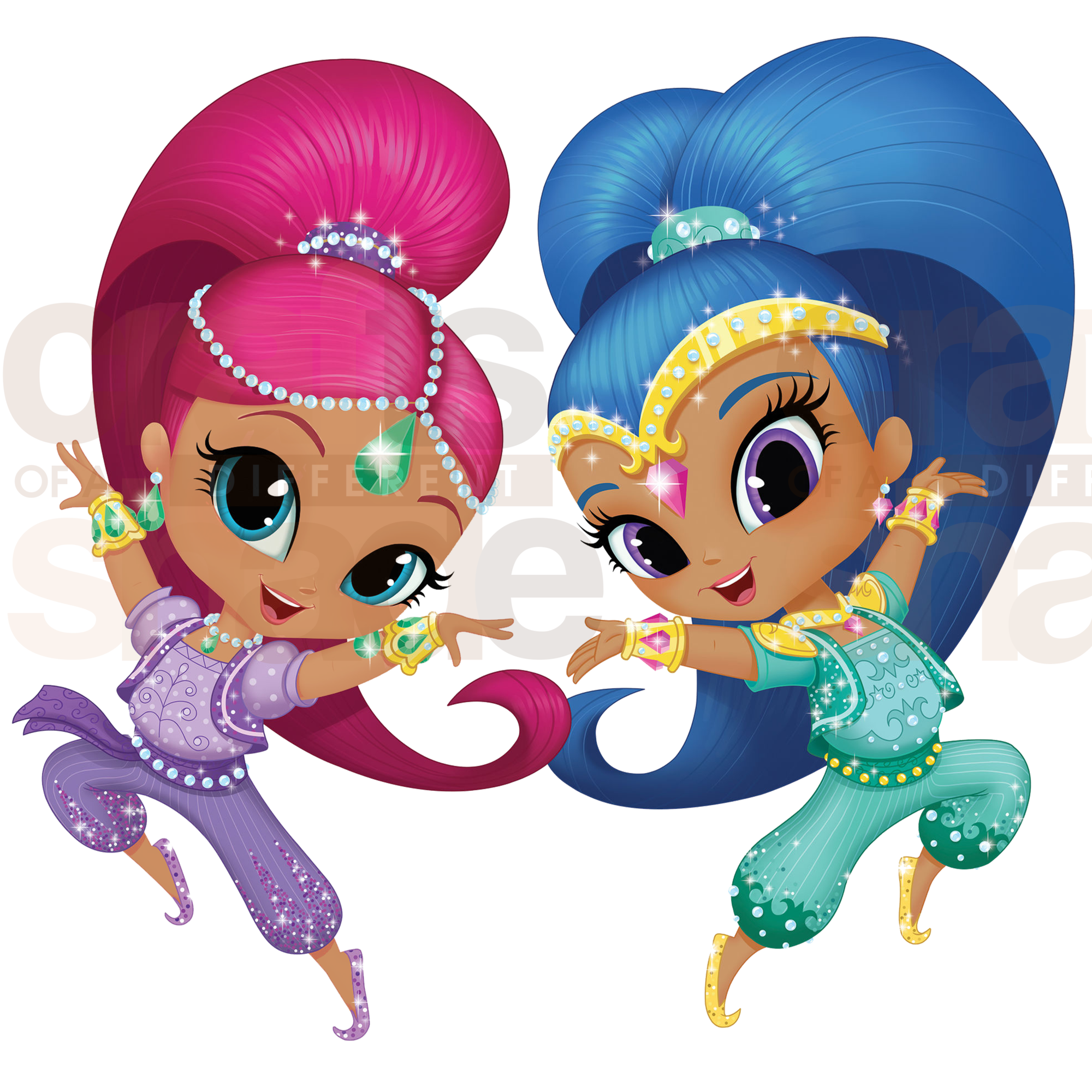 Shimmer and shine clipart nahal. Clip art african american
