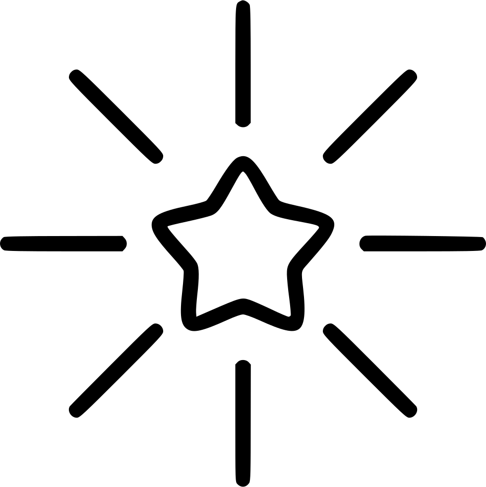 Shining star png. Svg icon free download