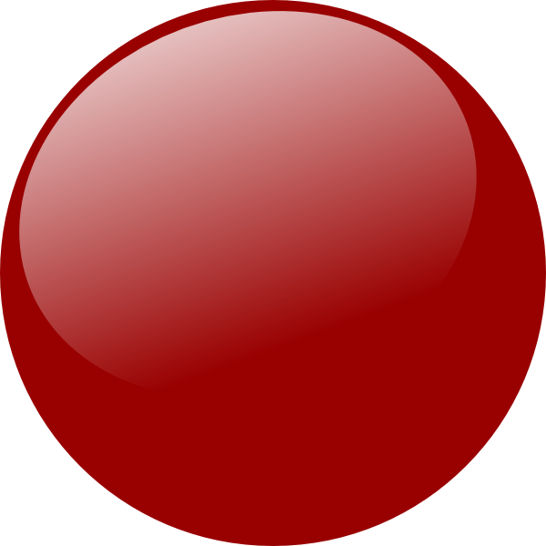 Glowing red dot png. Glossy icon angle clip