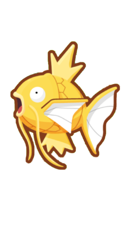 magikarp transparent shiney