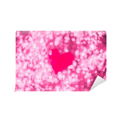 Shiny transparent bokeh. Heart light valentine s