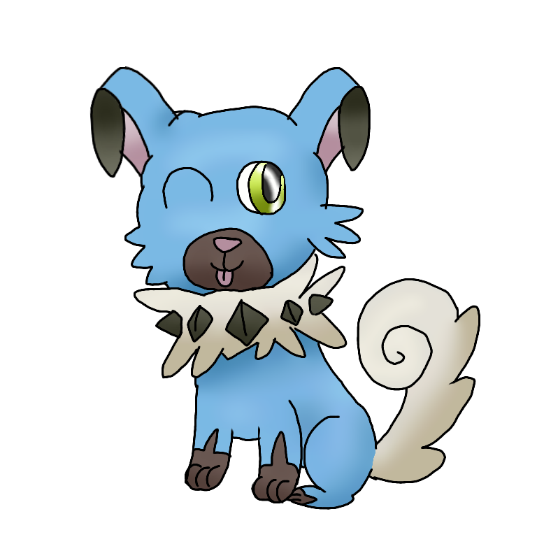 Shiny transparent cartoon. Rockruff by quirkyespeon on