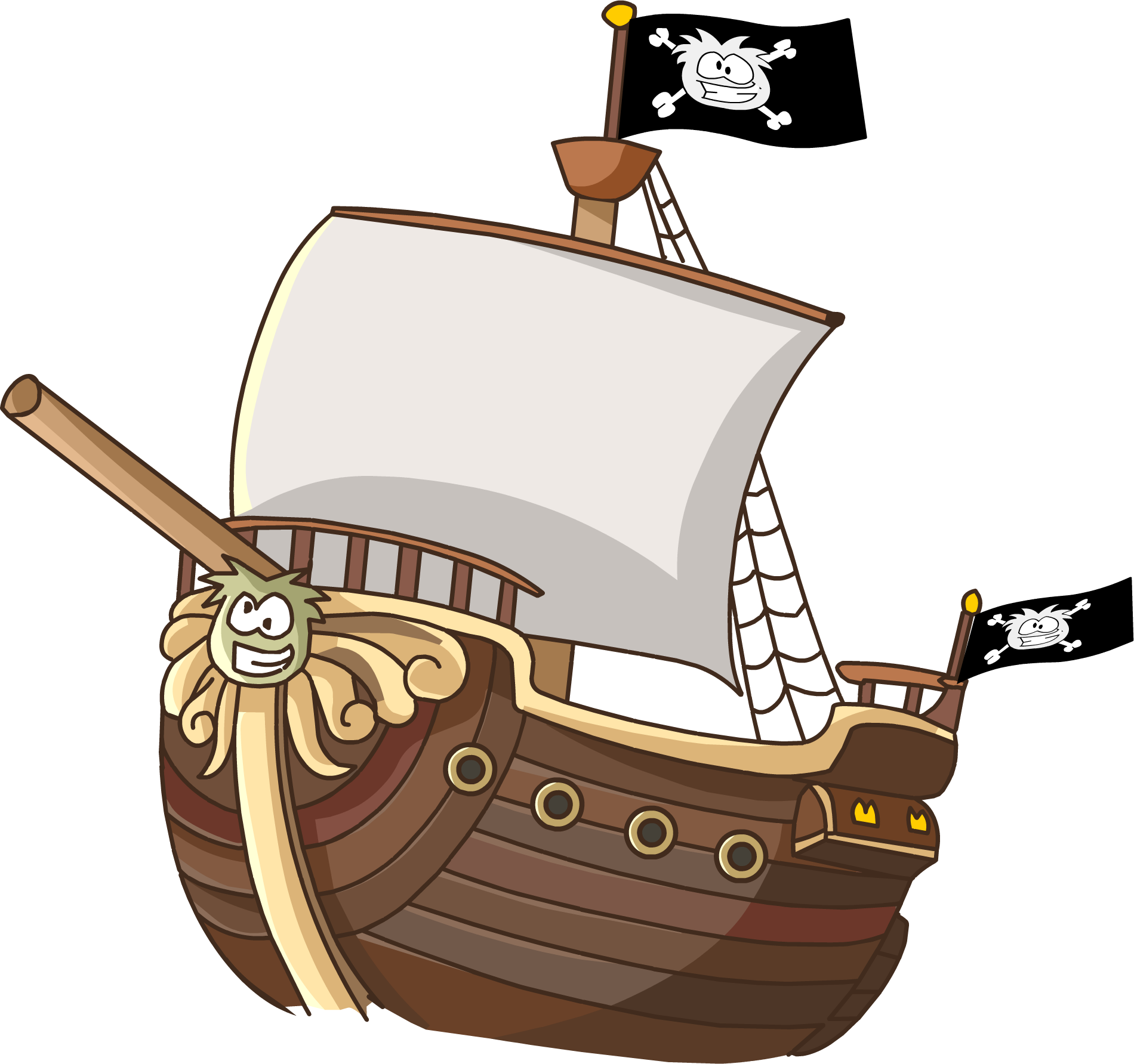 Caravel drawing pirate ship