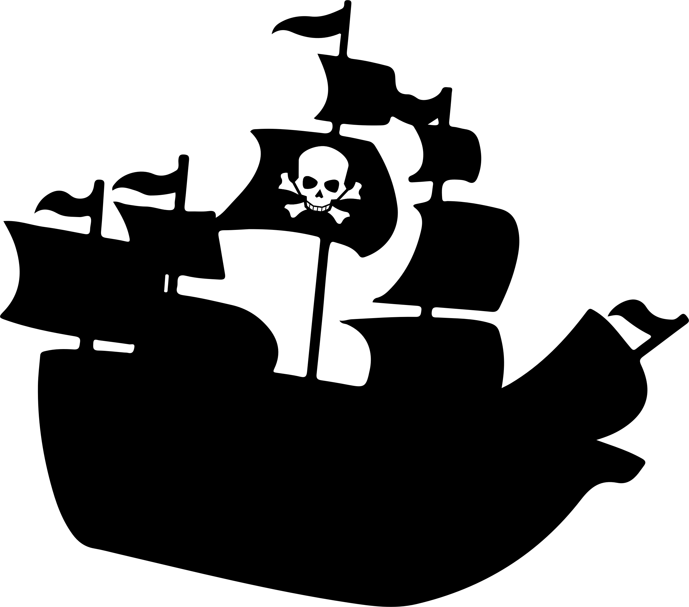 Pirate ship silhouette png. Collection of clipart