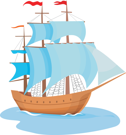 Sail clipart tall ship. Clip art image clipartcow