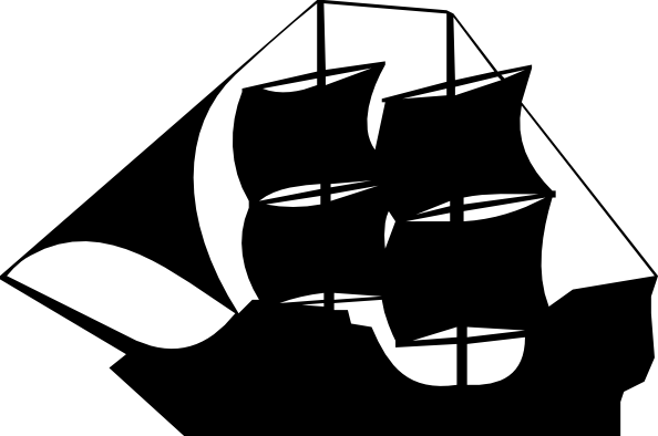 Pirate clip art at. Captain clipart ship vector black and white stock