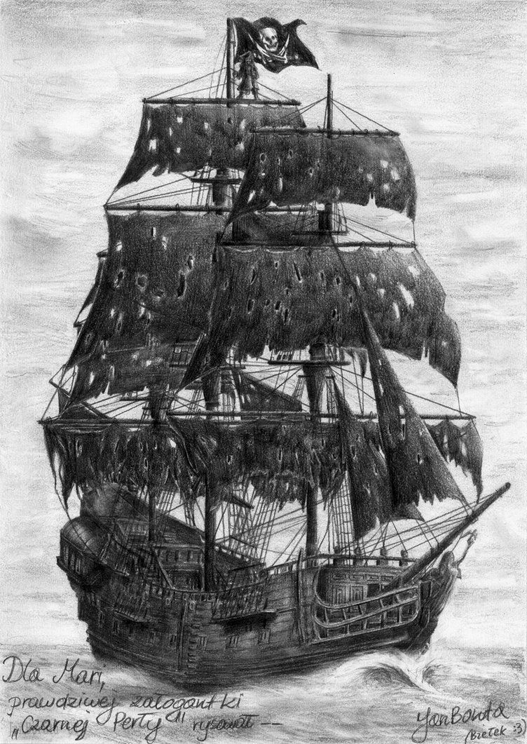 Ship clipart black pearl. The by janboruta on