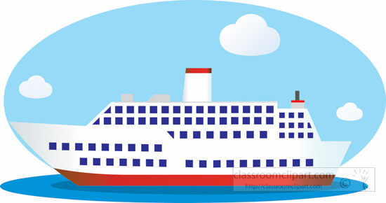 Boating clipart cruise. Boats and ships passenger