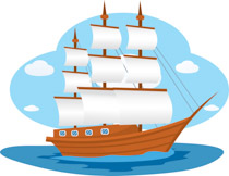 Big sailboat
