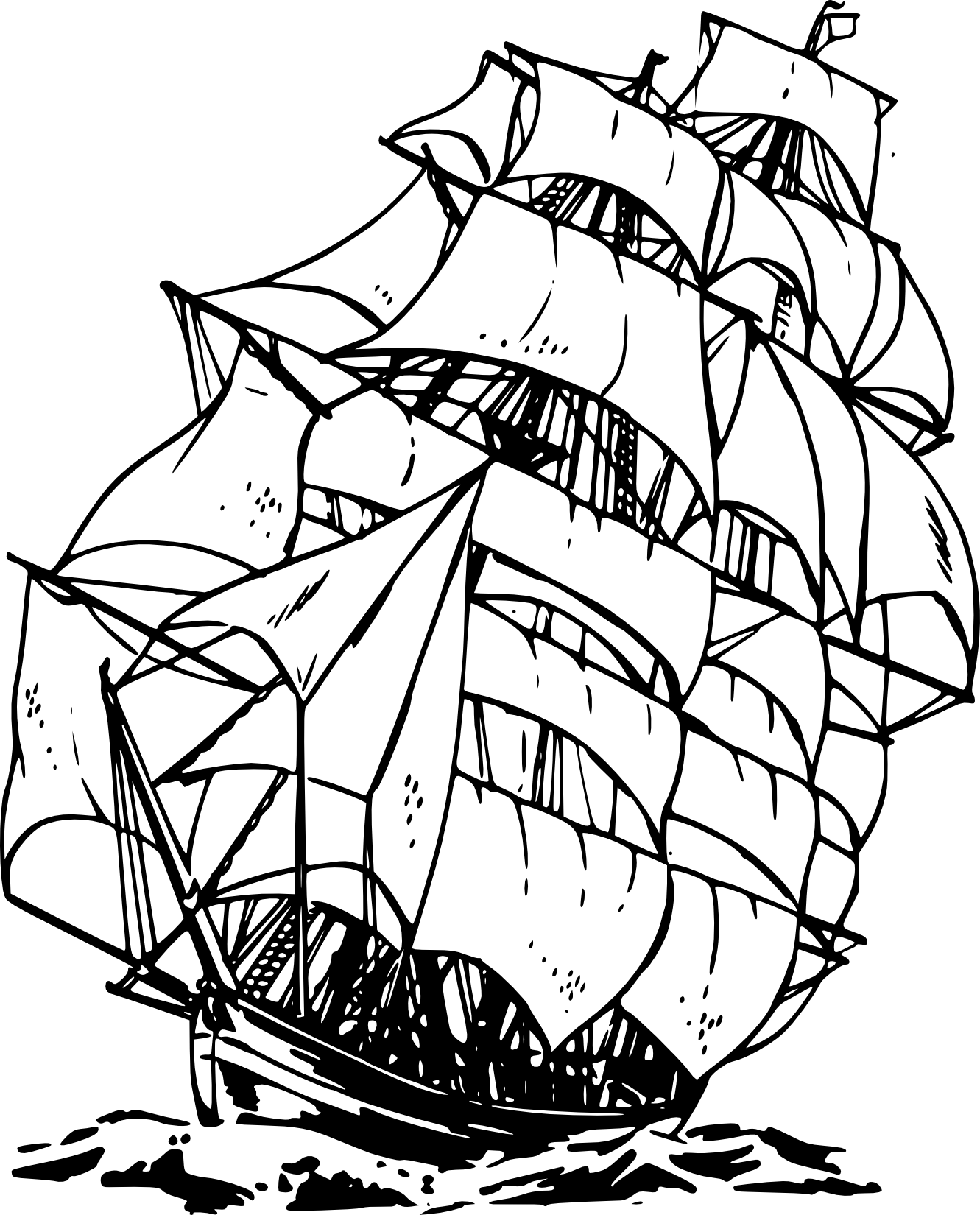 canon drawing ship