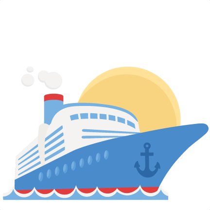 Ship svg clipart. Cruise scrapbook cut file