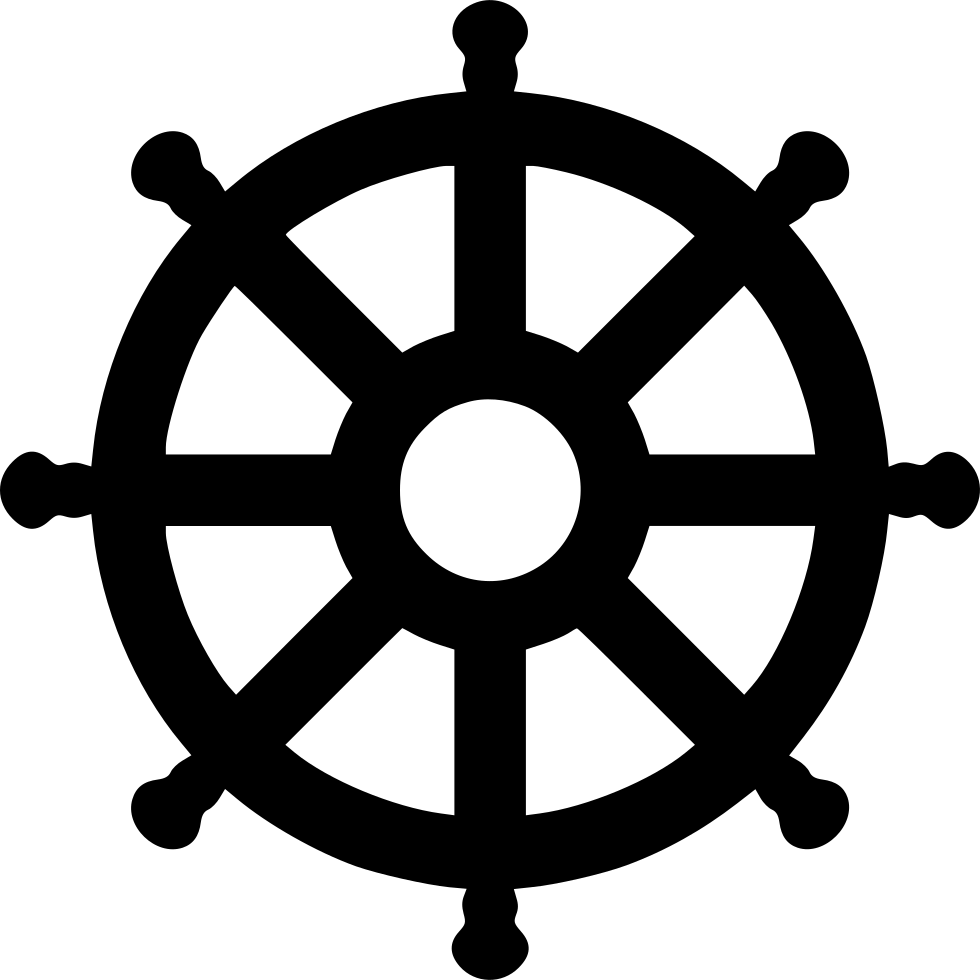 Ship svg wheel. Clip black and