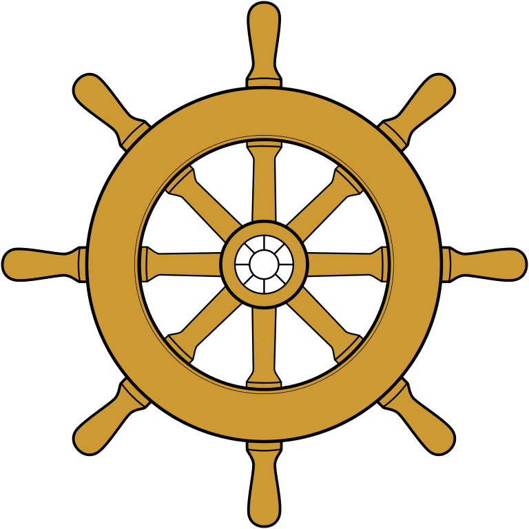 Ship wheel png transparent. File steering svg wikimedia