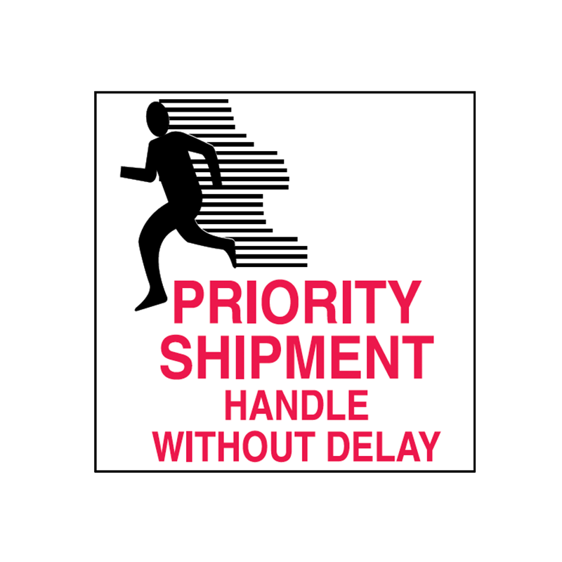 Shipping label png. Brady priority shipment x