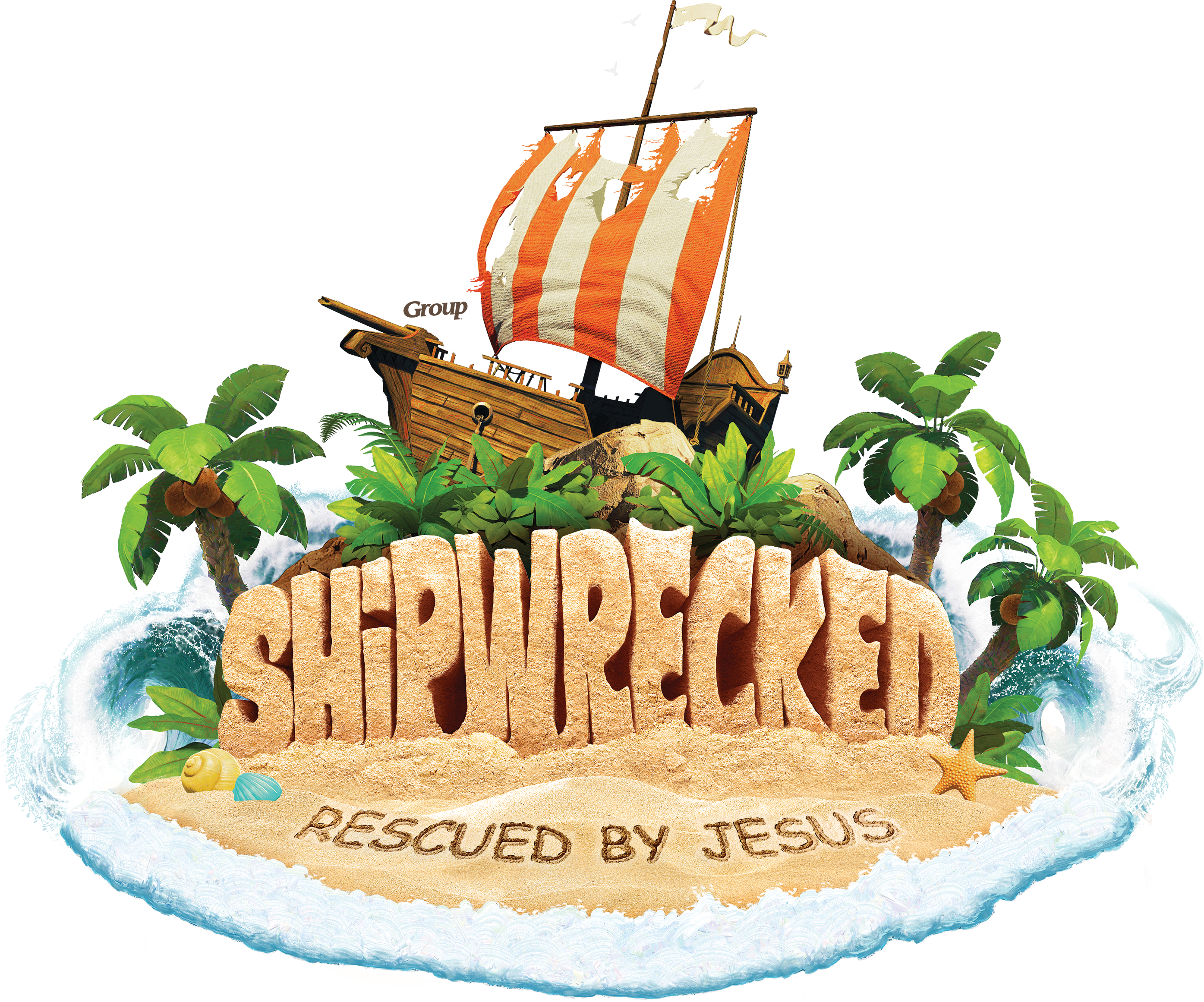 Shipwreck vector. Shipwrecked vbs free resources