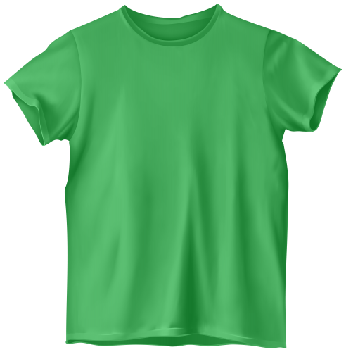 tshirt clipart green shirt