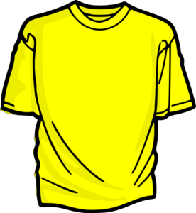 Shirt clipart. Yellow t