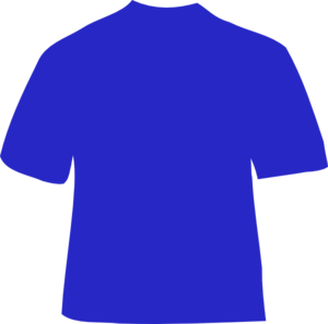 Blue clip art at. Shirt clipart vector royalty free