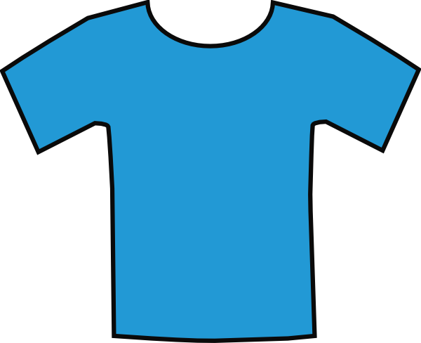 Shirt clipart blue shirt. T tshirt