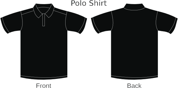 Black collared clip art. Shirt clipart buttoned shirt jpg transparent library