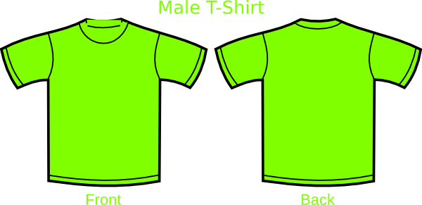 Green clip art at. Shirt clipart neon shirt vector black and white library