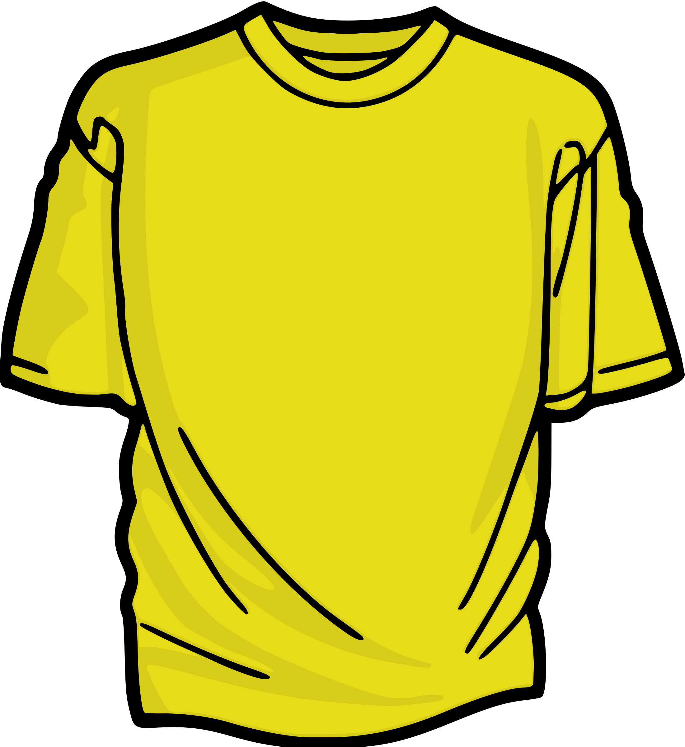 Clothes clipart png. Yellow t shirt big