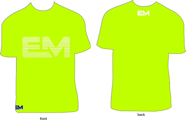 Shirt clipart neon shirt. Em dri fit yellow
