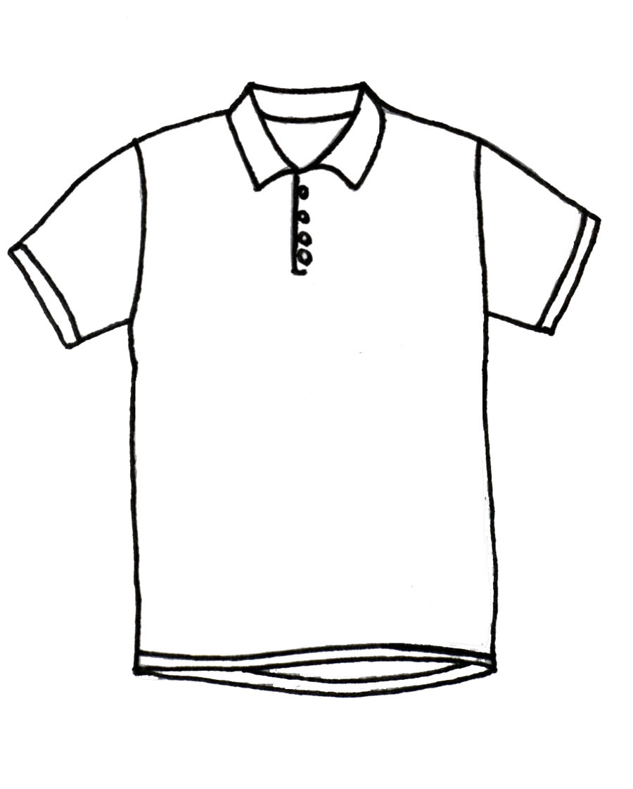 Shirt clipart shirt line. T drawing at getdrawings