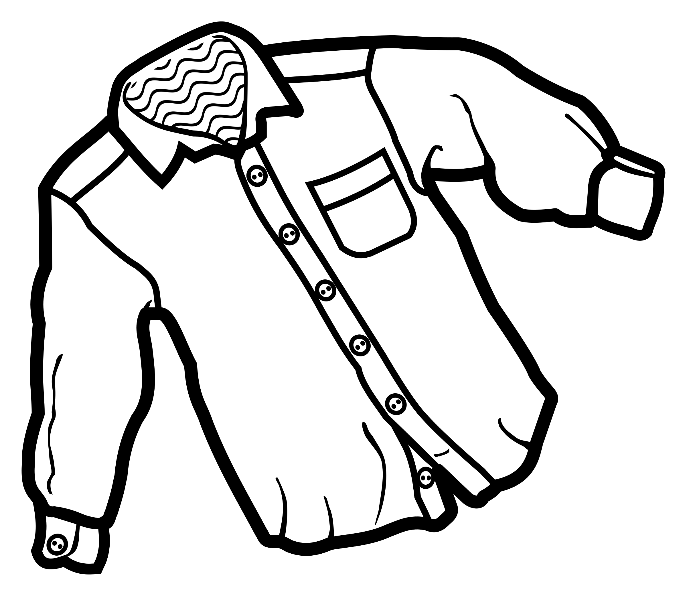Shirt clipart shirt line. Lineart icons png free
