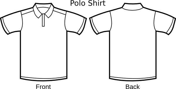 Polo template clip art. Shirt clipart svg banner black and white download