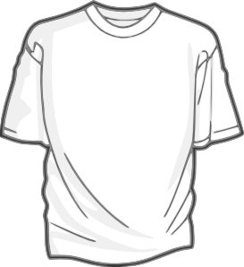 Vector tee blank. Digitalink t shirt clip