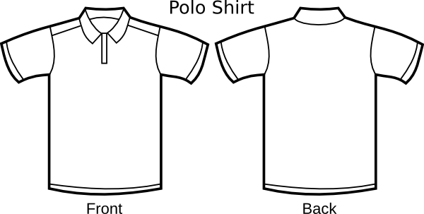 Polo drawing black and white