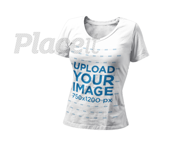 Shirt mockup png. Placeit invisible t of