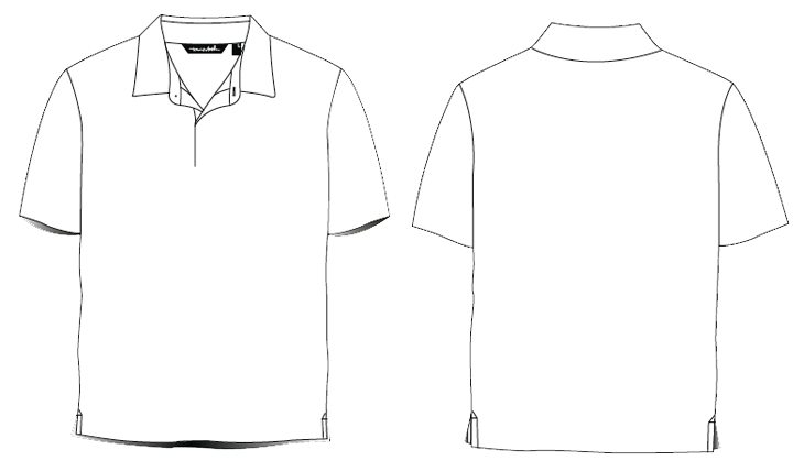 White t shirt template png. Collar image