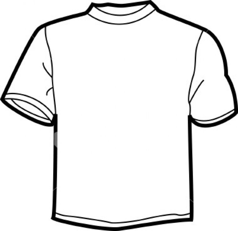 Shirts clipart. White t best inside jpg black and white download
