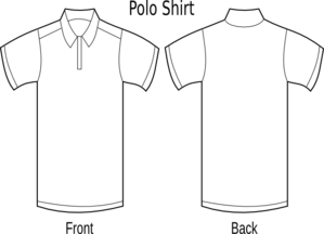 Shirts clipart golf shirt. Blank outline hbgolf clip