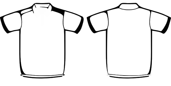 Free polo shirt template. Shirts clipart printable svg library