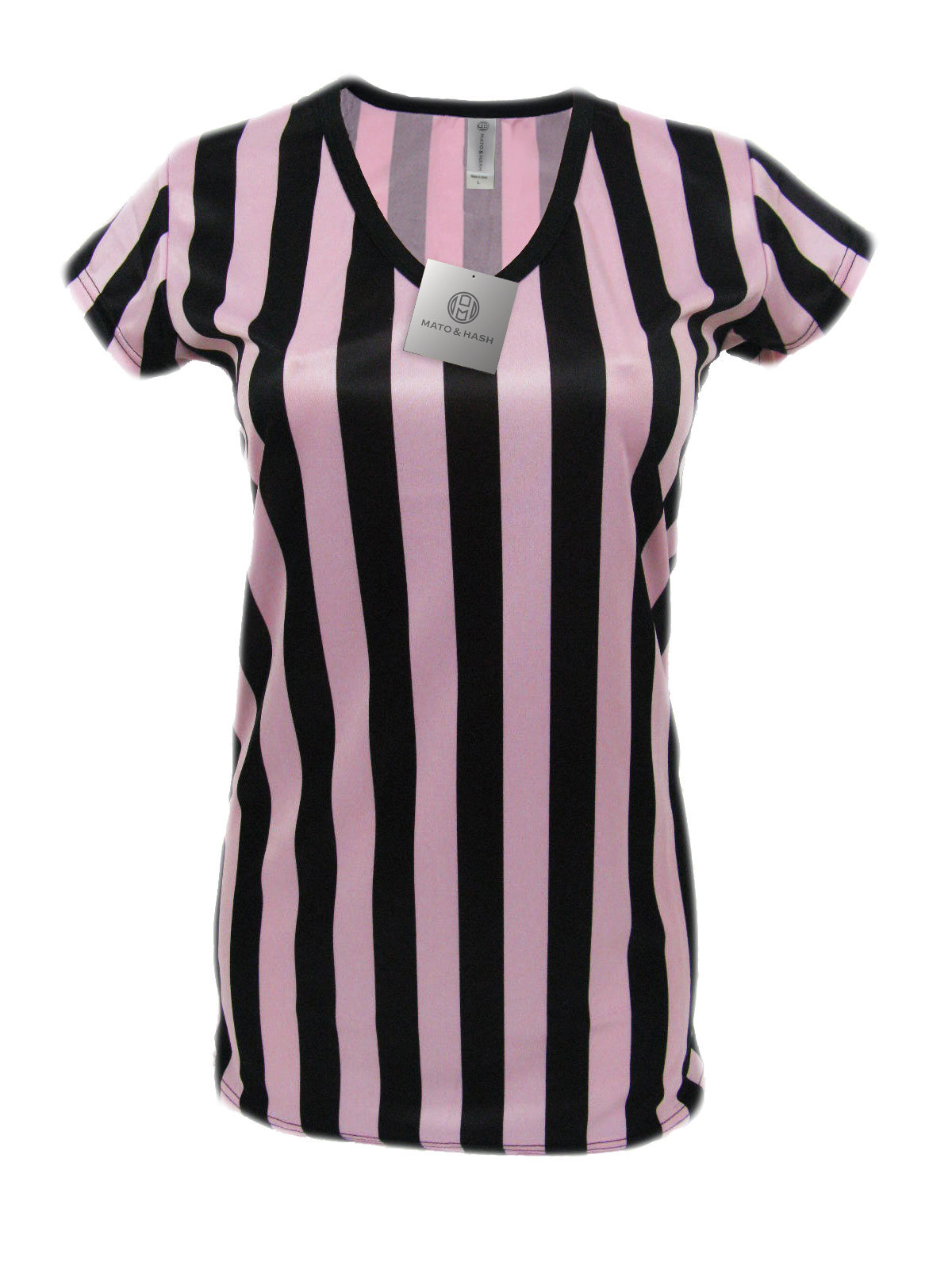 Shirts clipart ref. Ladies pink referee breast