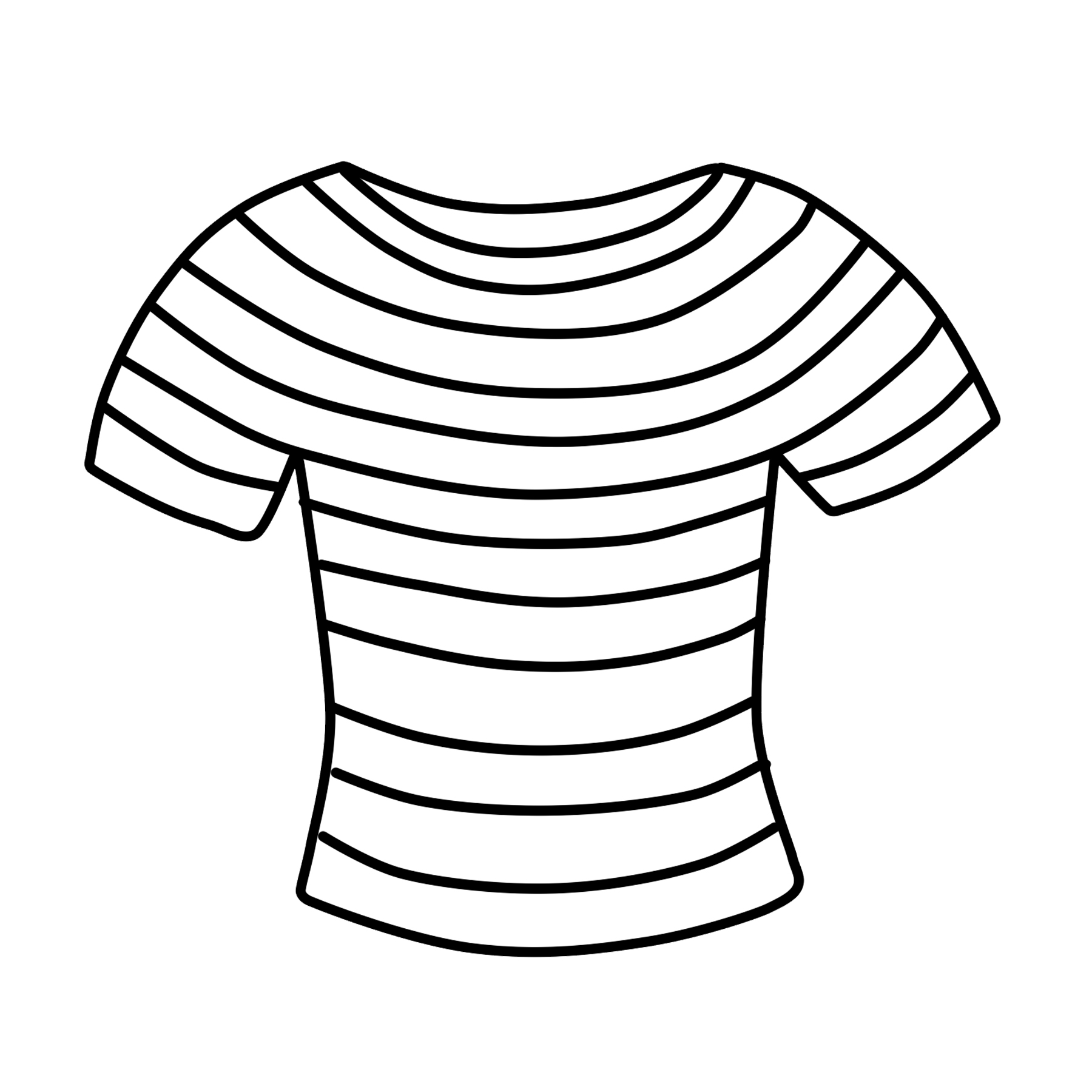 Clothes clipart striped shirt. T free clip art