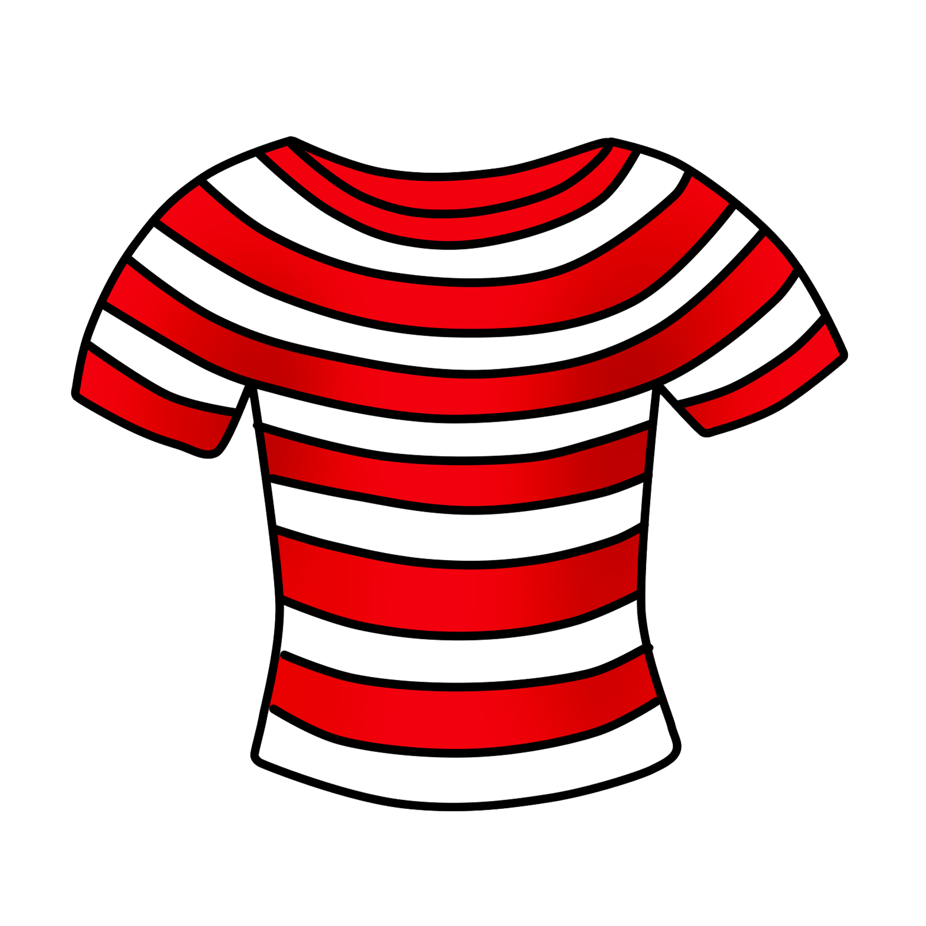 Shirt clipart. T free striped clip