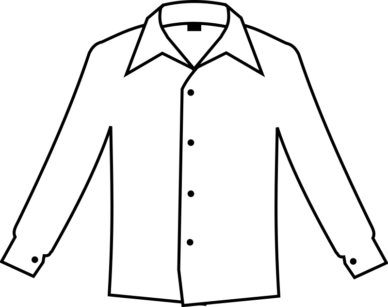 Simple white medium image. Shirt clipart buttoned shirt royalty free
