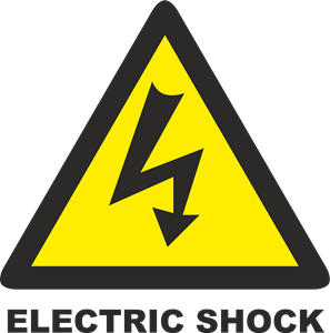 Shock vector electric. Sign logo cdr free