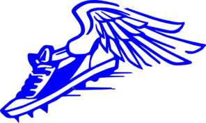 Shoe clipart track and field. Hamilton big blue athletics