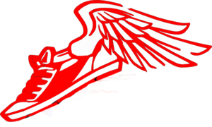 Shoe clipart track and field. Running with wings clip