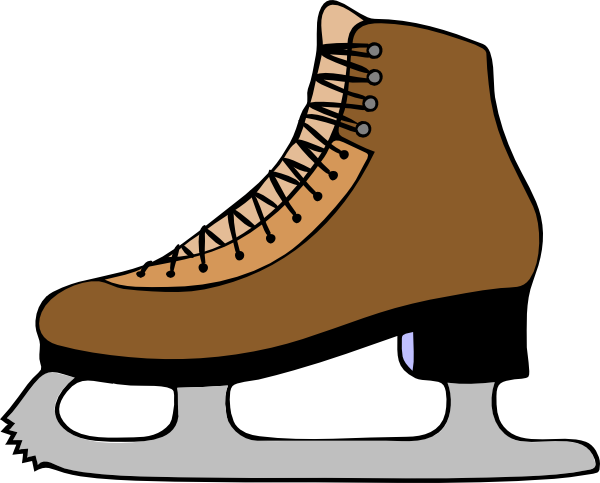 Shoe clipart winter. Skate template ice clip